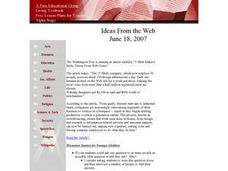 Ideas From the Web Lesson Plan