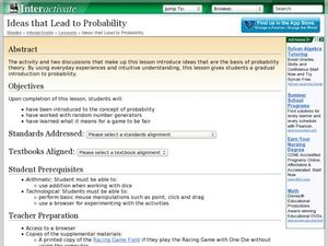 Ideas that Lead to Probability Lesson Plan