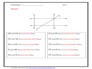 math worksheet : printables parallel and perpendicular lines worksheet eatfindr  : Intersecting Lines Worksheet
