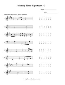 Printables Time Signature Worksheet identify time signatures 2 5th 12th grade worksheet lesson worksheet