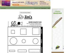 Identifying and Tracing Plane Figure Shapes Worksheet