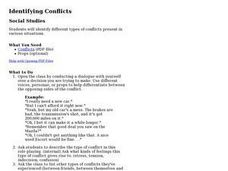 Identifying Conflicts Lesson Plan