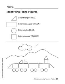 Identifying Plane Figures Worksheet