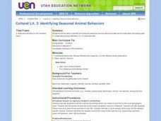 Identifying Seasonal Animal Behaviors Lesson Plan