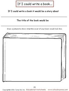 If I Could Write a Book Worksheet