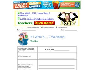 If I Was a...? Weather Worksheet