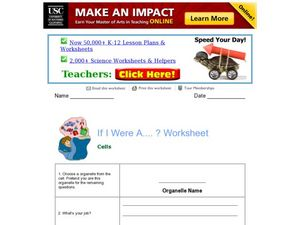If I Was A ...? Worksheet Worksheet