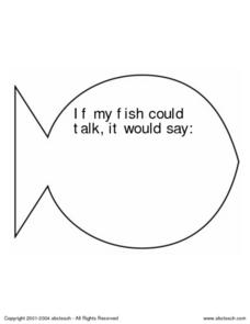 If My Fish Could... Worksheet