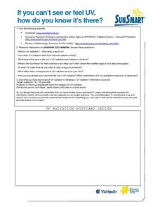 If You Can't See or Feel UV Radiation, How Do You Know It's There? Worksheet