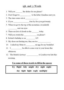 OA OW Worksheets