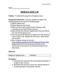 Igneous Rock Lab Lesson Plan
