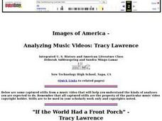 Images of America--Analyzing Music Videos Lesson Plan