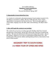 Imaginary Trip to South Korea Lesson Plan