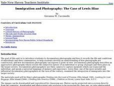 Immigration and Photography: The Case of Lewis Hine Lesson Plan