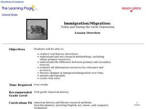 Immigration/Migration: Today and During the Great Depression Lesson Plan