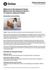 Improving Maternal Health Lesson Plan
