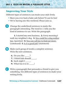 Improving Your Style Worksheet
