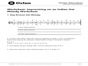 Improvising Music Through India, USA, and European Traditions Lesson Plan