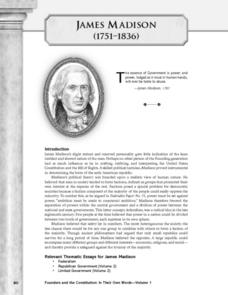 In His Own Words: James Madison On the Problem of Faction Lesson Plan