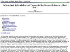 In Search of Self: Adolescent Themes in the Twentieth Century Short Story Lesson Plan