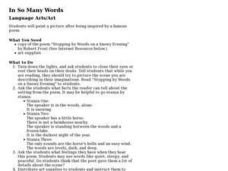 In So Many Words Lesson Plan
