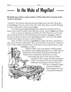In the Wake of Magellan! Worksheet