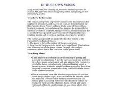 In Their Own Voices Lesson Plan