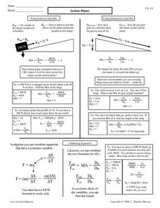 Incline Planes Worksheet
