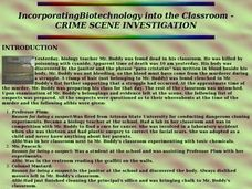 Incorporating Biotechnology into the Classroom - CRIME SCENE INVESTIGATION Lesson Plan