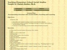 Incorporating Literature into Social Studies Teaching and Learning Lesson Plan