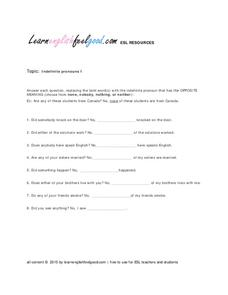 indefinite pronouns 2nd 8th grade worksheet lesson planet. Black Bedroom Furniture Sets. Home Design Ideas