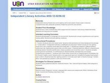 Independent Literacy Activities Lesson Plan