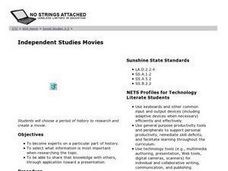 Independent Studies Movies Lesson Plan