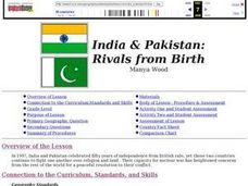India and Pakistan: Rivals from Birth Lesson Plan