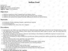 Indian Food Lesson Plan