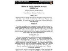 Indians of the Yellowstone Plateau Lesson Plan