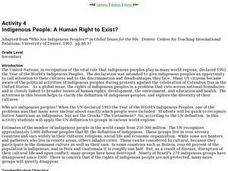 Indigenous People: A Human Right to Exist? Lesson Plan