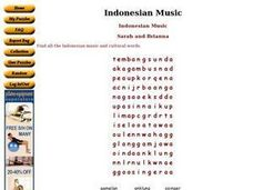 Indonesian Music Worksheet