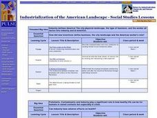 Industrialization of the American Landscape Lesson Plan
