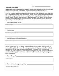 Printables Inferences Worksheet 1 inferences worksheet 1 4th 8th grade lesson planet worksheet