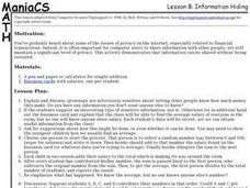 Information Hiding Lesson Plan