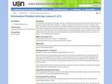 Information Problem Solving--Lesson 3 of 5 Lesson Plan