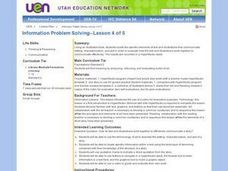 Information Problem Solving Lesson Plan