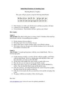 Initial Blend Dominoes & Matching Game Worksheet