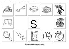 Initial Sound of Letter S Worksheet