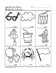 Initial Sounds: Blends Worksheet