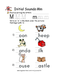 Initial Sounds: M Worksheet