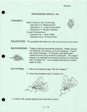 Ink Lesson Plan