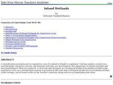 Inland Wetlands Lesson Plan