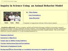 Inquiry in Science Using  an Animal Behavior Model Lesson Plan